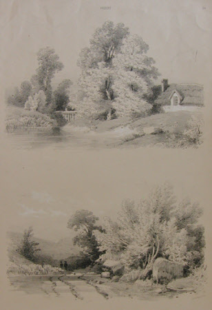 Two country scenes