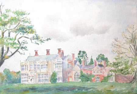 Felbrigg Hall, Norfolk, from the south east showing the East Wing,