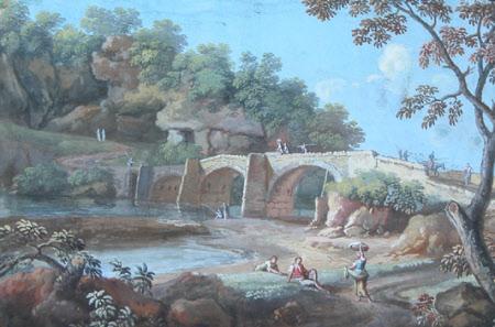 Bridge near Tivoli, Ponte del'Aqua Auria