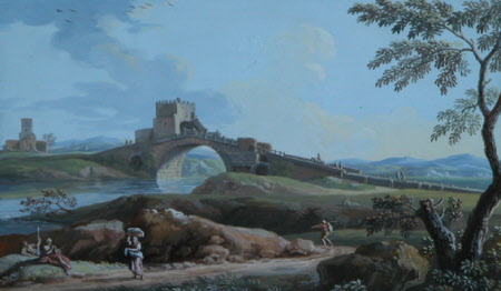 Ponte Salaria, an Antique Bridge near Rome