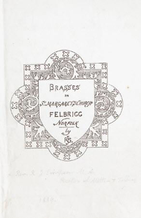 Brasses in St Margaret's Church, Felbrigg, Norfolk
