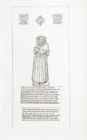 Brass of Jane Conyngsby (d.1608), St Margaret's Church, Felbrigg, Norfolk
