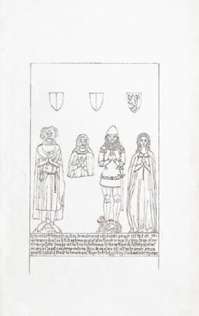 Brasses to Simon de Felbrigg (d.1351) and his wife Alice de Thorpe, Mrs Simon de Felbrigg, Roger de ...