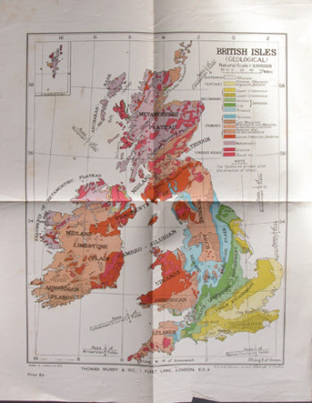 Geological map of British Isles