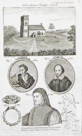Fulmodestone Church, Norfolk. Alexander Pope (1688-1744), William Shakespeare (1564-1616) and ...