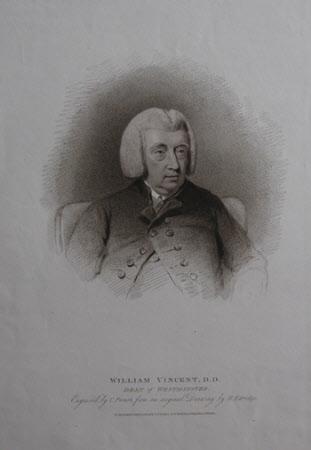 Dr William Vincent (1739-1815) Dean of Westminster (after Henry Edridge)