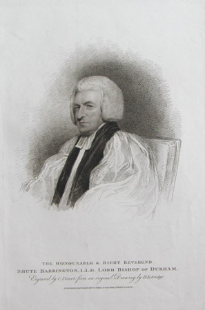 Shute Barrington (1734-1826) Bishop of Durham (after Henry Edridge)