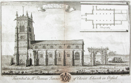 The South East Prospect of the church of St Peter and St Paul, Cromer, Norfolk