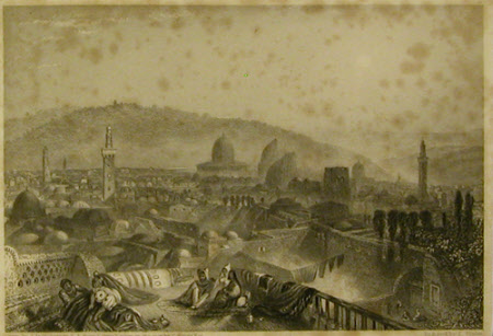 Jerusalem from the Latin Convent (after Joseph Mallord William Taylor after Sir Charles Barry)