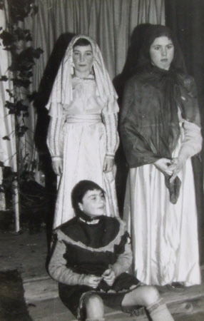 Children dressed for a Nativity Play, Felbrigg Village Hall, Norfolk: 1959