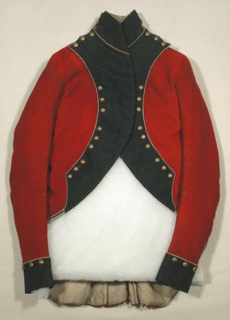 Coat; Uniform coatee - Part of a coatee of Yorkshire (West Riding) First Regiment Militia.