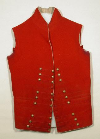 Coat; Uniform dress coatee - Part of a coatee of Yorkshire (West Riding) First Regiment Militia