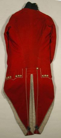Uniform waistcoat - Part of a coatee of Yorkshire (West Riding) First Regiment Militia.