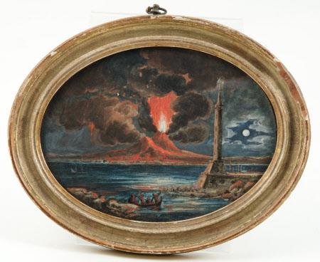 Erupting volcano, possibly Stromboli