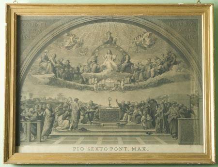 The Disputation of the Holy Sacrament (The Disputa), Stanza della Segnatura, Vatican, Rome (drawn ...
