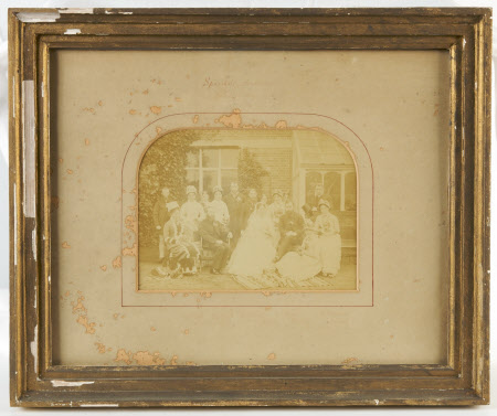 The wedding of Stella Reichel and The Reverend John Lechmere Tudor (1851-1925) at Sparsholt, ...