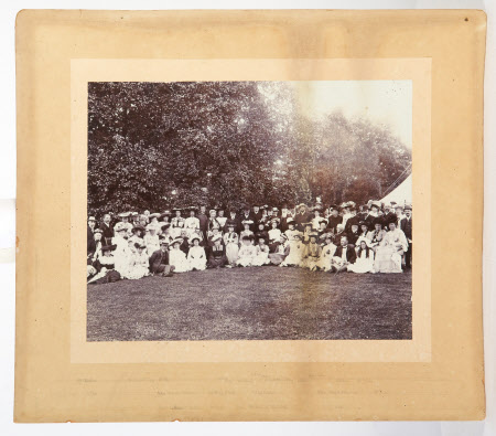 Large group on a lawn