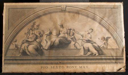 The Lunette of the Justice Wall - The Cardinal Vertues: Stanza della Signatura, Vatican, Rome ...