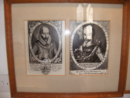 Sir Walter Raleigh (1552?-1618) (left) and Sir Humphrey Gilbert (1539-1583) (right)