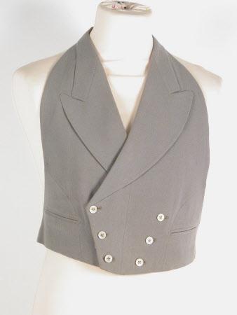 Mourning suit waistcoat