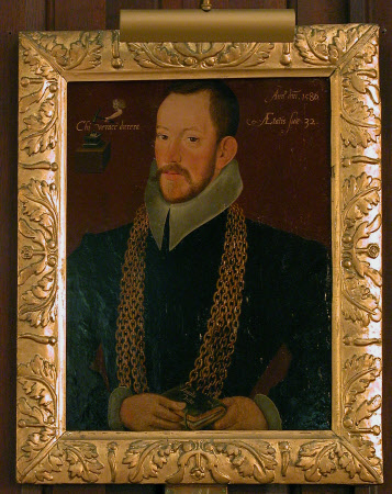 Richard Carew (1555-1620), aged 32, as High Sheriff & Deputy-Lieutenant of Cornwall