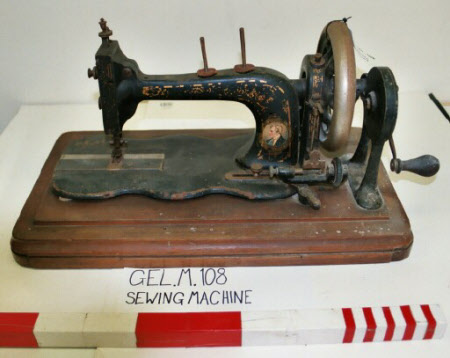 Hand operated Sewing Machine with a portrait of Arthur Wellesley, 1st Duke of Wellington, KG, KB, ...