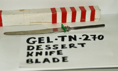Dessert knife blade