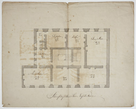 Plan of the principal floor of Norfolk House 109252 – Knole House Floor Plan