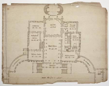 Plan of the principal floor (as built)