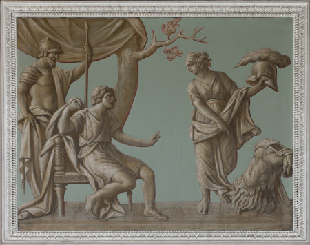 Achilles receiving new Armour from his Mother, Thetis, which Hephaestus (Vulcan) had made at her ...