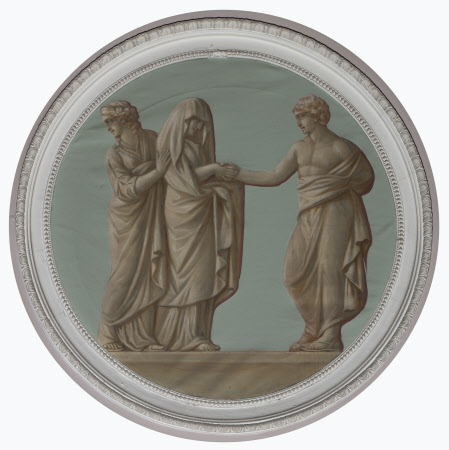 A (Grecian/Roman) Wedding: introducing the Intended Bride (after Farnese antique relief) (Called ...