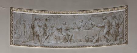 Edward the Black Prince serving Supper to his Prisoner King John II of France