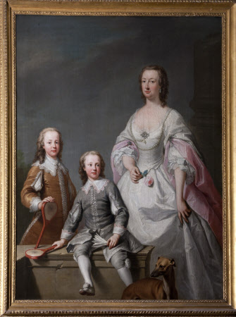 Mary Assheton, Lady Curzon (1695-1776) with her Two Sons Nathaniel Curzon, 1st Baron Scarsdale ...