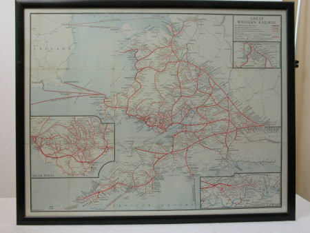Map of Great Western Railway stations and routes prior to the Beeching closures