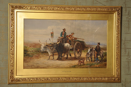 Travellers with an Ox-cart in Italy