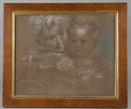 Courtenay Throckmorton (1831-1854) and Mary Elizabeth Throckmorton (1832-1919) as children