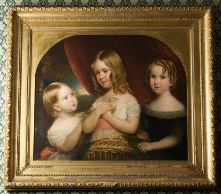 Three Children, one holding a Dove