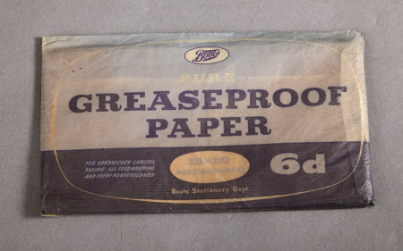 Greaseproof paper packet
