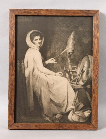 Emma Hart, Lady Hamilton (c.1765 – 1815) Spinning