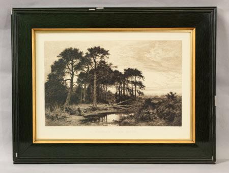 A Surrey Pine Wood (after Benjamin Williams Leader, RA)