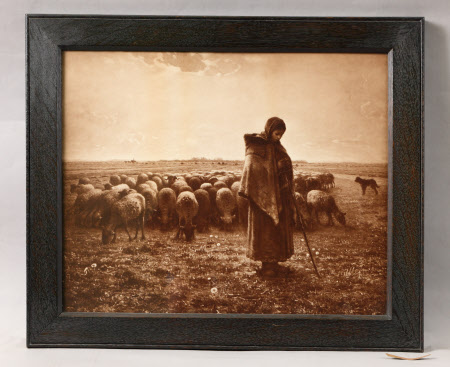 A Shepherdess with her Flock