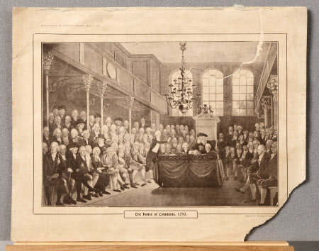 The Rt. Hon. William Pitt the younger MP (1759-1806) addressing The House of Commons, 1793
