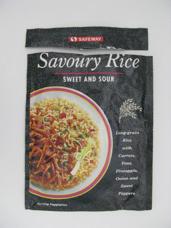 Savoury rice packet
