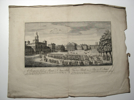 A Perspective view of ye Parade St James's Park, London: 1742