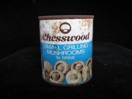 Mushrooms tin