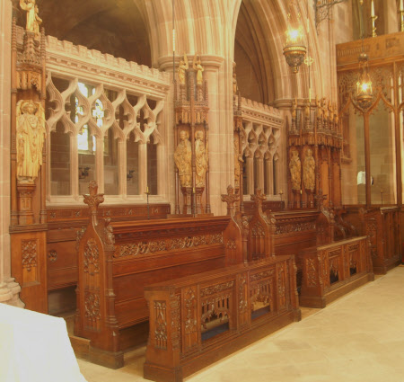 Set of six choir stalls