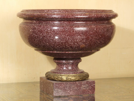 Louis XVI Egyptian porphyry urn-shaped bowl