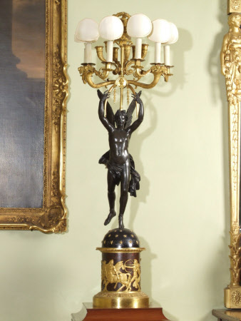 Candelabra in the form of Mercury