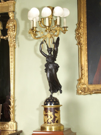 Candelabra in the form of Winged Victory