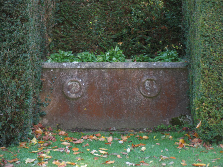 Oval Cistern with carved rings on its side